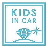 imoninn KIDS in car ステッカー 【パッケージ版】 No.26 ダイアモンド (水色)