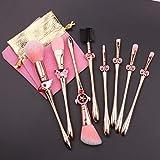 Magic Sakura Makeup Brushes Set - 8pcs Cosmetic Makeup Brush Set Professional Tool Kit Set Pink Drawstring Bag Included (Sakura)