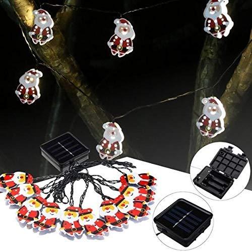 ZLININ 10 LEDs luz blanca cálida Santa Claus en forma de cadena de hadas para Navidad 4 m luz de cuento de hadas