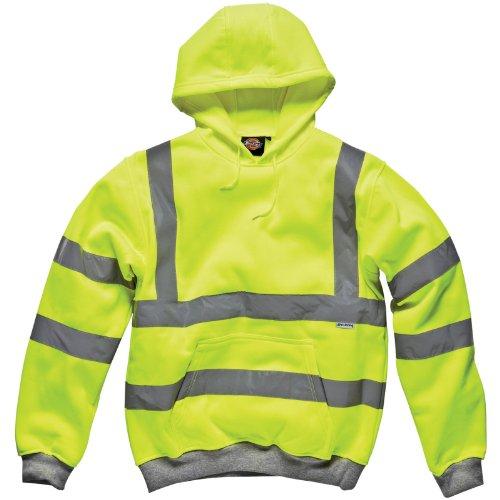 Dickies - Hoch Sichtbarer Kapuzenpullover Signalfarben Pullover, Gelb - Signalfarbe Gelb, M