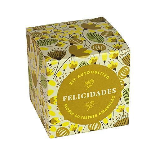 Resetea | Kit Autocultivo | Díselo con flores | Felicidades | Alhelí dorado, hipérico y vulneraria.