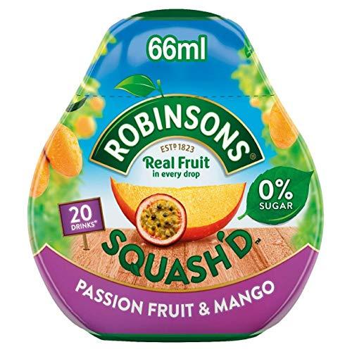 Robinsons Squash'd Mango & Passion Fruit No Added Sugar 66ml (Pack of 2)