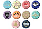 Creanoso Motivational Pinback Buttons Badge - Mental Health (10-Pack) - Large 2.25' Pins Stocking Stuffers Premium Quality Gift Ideas for Children, Teens, Adults - Corporate Giveaways & Party Favors
