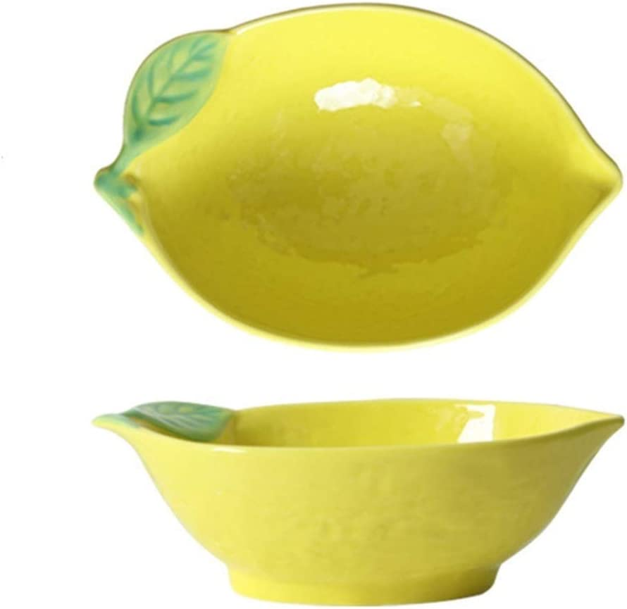 Serving Dishes Lemon Directly managed store Selling rankings Shaped Plate Ceramic Bowl Rice Dinner Cute