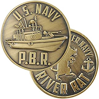 Medals of America US Navy PBR Challenge Coin Gold