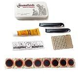 Kit de Reparación de Pegamento de Parche para Neumáticos de Bicicleta Kit de Pegamento de Parche de Goma para Reparación de Neumáticos Interiores de Bicicleta de Emergencia