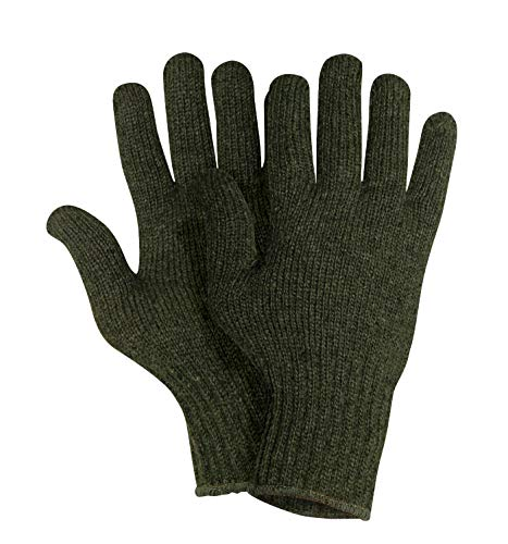 Rothco Wool Glove Liners-Unstamped, Olive Drab, L