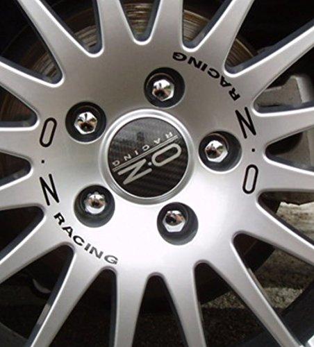 OZ Racing Granturismo Superturismo GT - Juego de adhesivos para llantas, 18 pulgadas, color negro