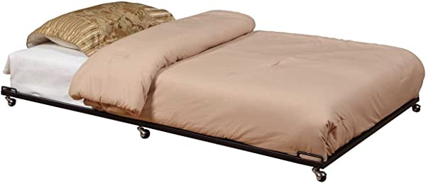 Kings Brand Furniture Twin Size Black Metal Roll Out Trundle Bed Frame For Daybed