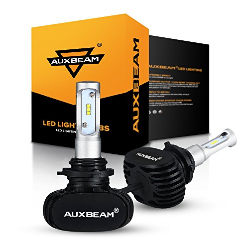 Auxbeam S1 Series 9006 HB4 HB4U LED Headlights Fanless with 2 Pcs of Super Bright CSP LED Headlight Conversion Kit 8000 Lumens 6000K Single Beam