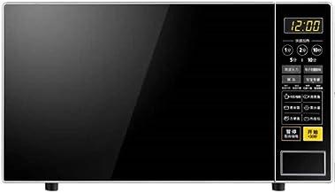 PLEASUR Horno microondas con Sensor Inteligente, Interior fácil de Limpiar, Modo Eco y Encendido/Apagado de Sonido, 21 L, 700 W, Acero Inoxidable Negro