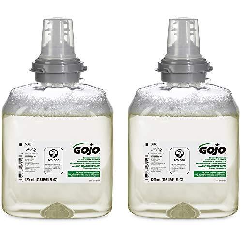 GOJO Green Certified Foam Hand Cleaner, Fragrance Free, EcoLogo Certified, 1200 mL Hand Soap Refill for GOJO TFX Touch-Free Dispenser (Pack of 2) – 5665-02
