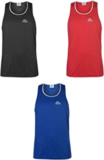 Official Brand Lonsdale Box Vest Mens Singlet Tops Tank Black/White X-Small