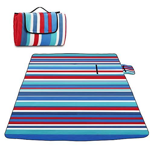 Picknickdecke 200 x 200 cm, Sylanda XXL Wärmeisoliert und Wasserdicht Picknickdecken Campingdecke Stranddecke Strandtuch Outdoor-Unterlage mit Griff für Reisen Wandern Camping