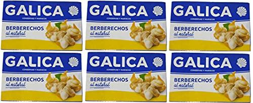 Berberechos pequeños al natural Galica [PACK 6 LATAS]