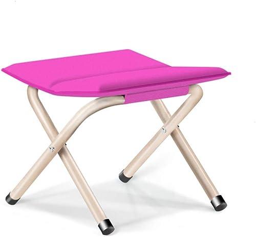 Ultraléger Portative Tabouret pliant portatif pour la chaise de camp extérieure compacte ultra légère de voyage randonnée flexible (Couleur   Rose rouge, Taille   35  30  33cm)