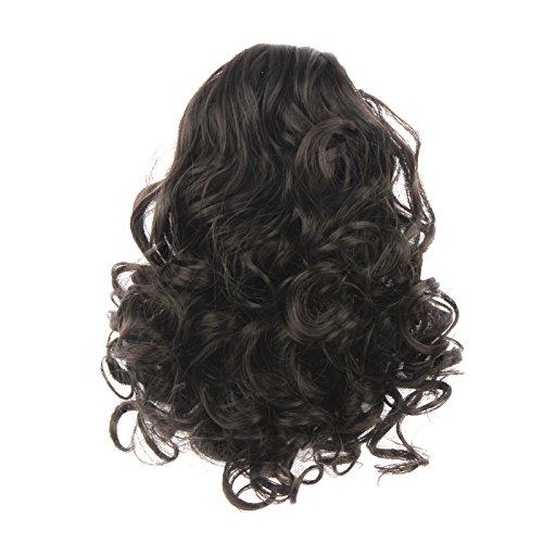 WeKen Hair Bun Medium Long Curly Synthetic Hairpiece Light Brown