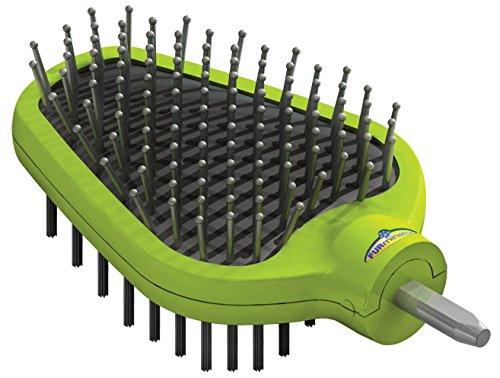 FURminator FURflex Doppelbürsten-Aufsatz, doppleseitige Hundebürste mit Drahtstiften und flexiblen Borsten
