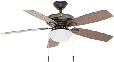 """Home D.Collection Tahiti Breeze 52/"""" LED Indoor//Outdoor Natural Iron Ceiling Fan"""