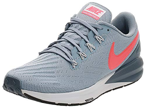 Nike Air Zoom Structure 22, Zapatillas de Atletismo para Hombre, Multicolor (Obsidian Mist/Bright Crimson/Armory Blue 000), 41 EU