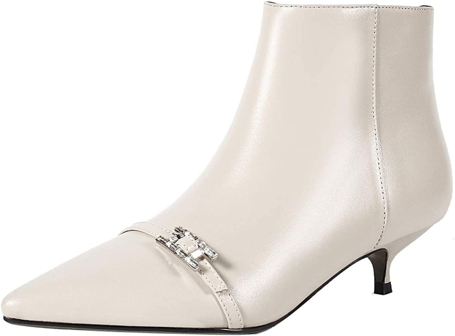 MAYPIE Womens Toambit Leather Zipper Ankle Boots