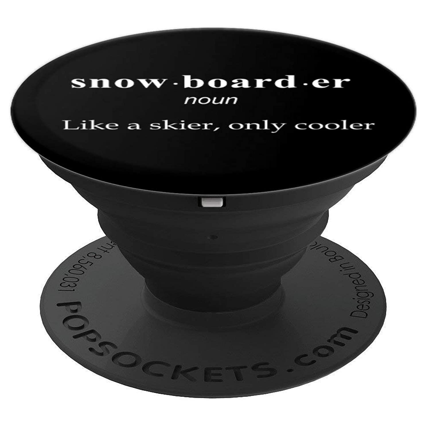 Cool Snowboarding Definition Boarding Men Women Perfect Gift - PopSockets Grip and Stand for Phones and Tablets