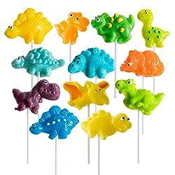 3. Prextex Dinosaur Party Lollipops (12 Pack)