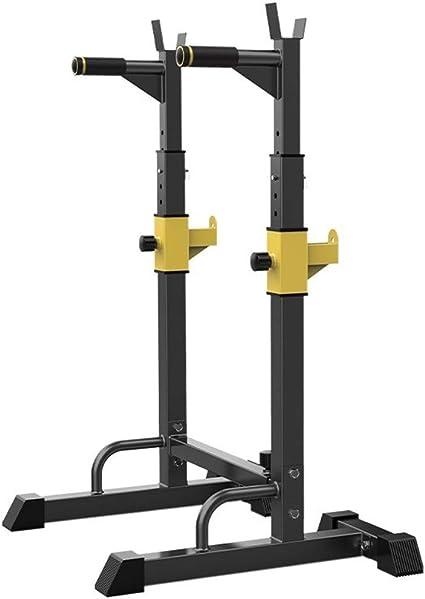 Wjie Aparato para Sentadillas Press de Banca Estante,con Barra Jaula de Sentadillas Peso Equipo de Formaci/ón,150 Kg Altura Regulable Entre 81 y 131cm