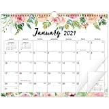 2021-2022 Calendar - Wall Calendar 2021-2022,14.6'' x 11.4'', Jan 2021 - June 2022, Twin-Wire Bound Wall Calendar, Large Blocks with Julian Dates, Perfect for Easy Planning - Floral