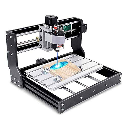 Kacsoo 2-in-1 CNC 3018 Pro Lasergravurmaschine Fräsmaschine Laser Engraving Machine, Holz Router Kit GRBL Control 3 Achsen DIY Mini-Laserengraver für Holz PCB PVC Kunststoff Acry (3018PRO-5500)