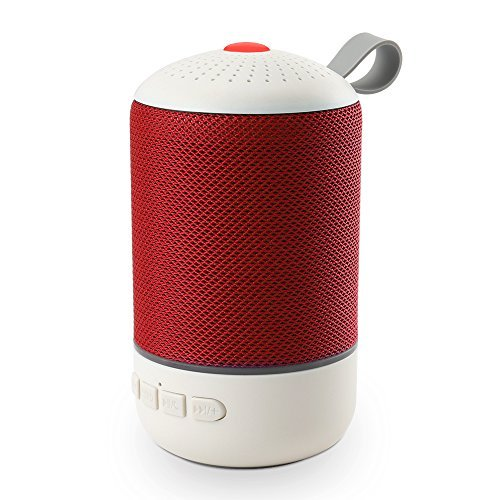 Bluetooth Speaker,BURKEMANY SoundBox Portable Wireless Bluetooth 4.0 Touch Speakers with 12W HD Sound and Bold Bass, Handsfree,6H Playtime for Echo Dot,iPhone,iPad,Samsung,Tablet,Gift Ideas(Red)