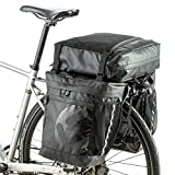 BAIGIO Alforjas para Bicicletas,Alforja Maletero Impermeable, 3 Compartimentos para Portaequipajes Asiento Trasero de Bicicleta de Carretera Bicicleta Pannier (Negro)