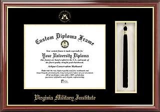 Laminated Visuals Virginia Military Institute Keydets - Embossed Seal - Tassel Box - Mahogany - Diploma Frame