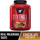 BSN SYNTHA-6 Whey Protein Powder, Micellar Casein, Milk Protein Isolate, Chocolate Peanut Butter, 48 Servings (Packaging...