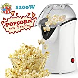 Popcorn Machine 1200W Hot Air Popcorn Popper Electric Maker for Home with On Off Switch, No Oil Needed