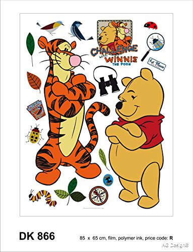 Disney Winnie l'ourson Challenge Décoration Sticker Adhesif Mural Géant Répositionnable