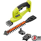 Ryobi 18-Volt Lithium-Ion Cordless Grass Shear and Shrubber Trimmer - 1.3 Ah...
