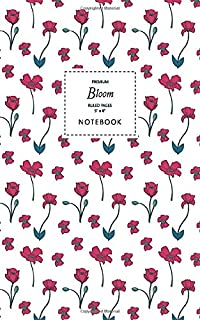 Bloom Notebook - Ruled Pages - 5x8 - Premium: (White Edition) Fun fish notebook 96 ruled/lined pages (5x8 inches / 12.7x2...