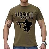 Camiseta de caqui Airsoft Sniper con marca negra – Camiseta para los Snipers Airsoft caqui S