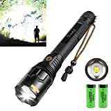 Rechargeable LED Flashlight,100000 High Lumen Brightest Powerful...
