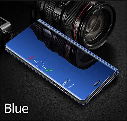 XUEYAN521手机保护套翻盖保护套小米Mi 9 A2 8 Lite A1 6X 5X镜子皮套Redmi 7 Note 7 6 PRO 5 Plus 6A 4 4X保护套(适用于Xioami 6X-Blue)