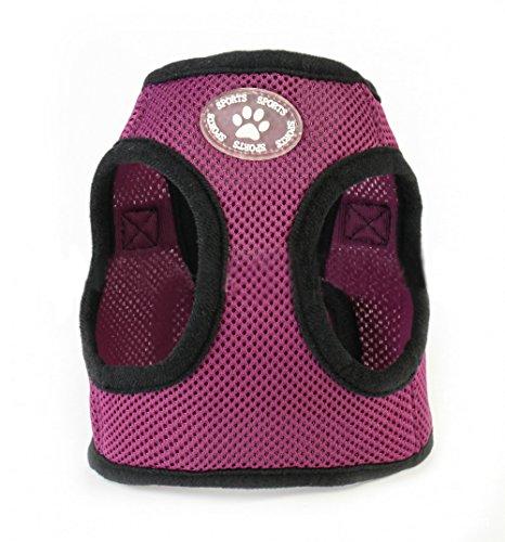 ZoonPark® weiches Hundegeschirr, für Haustiere / Hunde, atmungsaktives weiches Netzgewebe, verstellbares Geschirr für kleine bis mittelgroße Hunde