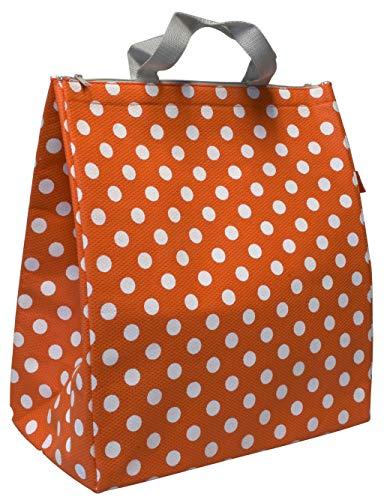 Kühltasche gepunktet 25 Liter Fassungsvermögen leicht OrangeThermotasche