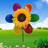 Cold Toy Multicolor Lentejuelas de girasol de molinos de viento de Spinner de hogar jardín de Yard de decoración