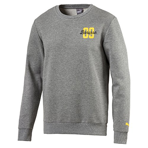 PUMA Herren BVB BORUSSE Sweat Mantel, medium Gray Heather, XL