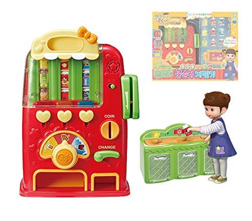 Youngtoye Kongsuni Play Kongsuni Máquina expendedora de juguetes de juego/monedas y naipes de juguete para niña