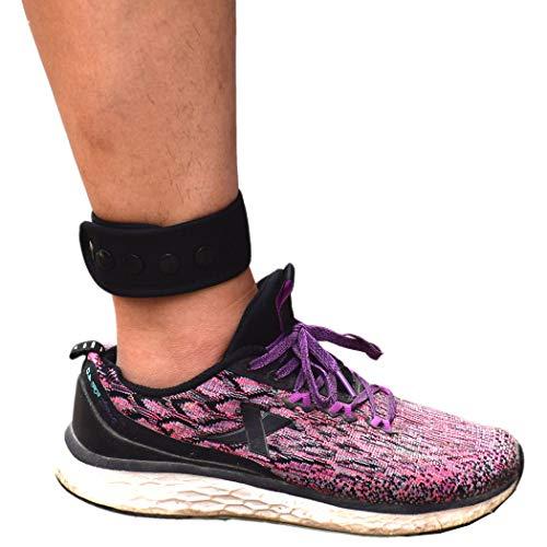 DDJOY Knöchelband für Fitbit & Garmin, Fußgelenkband für kompatibel mit Charge 2/3 Alta/HR Flex/2 Fitbit One oder Garmin Vivofit/2/3/4, Knöchelband für Männer und Frauen, schwarz, Small/Medium