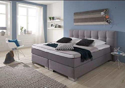 Breckle Boxspringbett 180 x 200 cm Dorinta Box Mero Easy Big Bonnell Topper Gel Standard