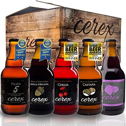 CEREX - Pack 20 cervezas artesanales Cerex 33 cl. (4 Pilsen, 4 Ibérica de Bellota, 4 Castaña, 4...