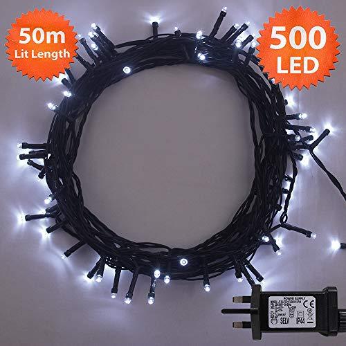 ANSIO Christmas Lights 500 LED 50 m White...